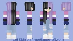 Genderfluid Pride (Longer Hair) Minecraft Skin