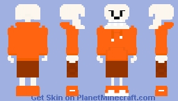 UnderSwap Papyrus| Papy| Papyrus the Skeleton| Carrot Minecraft Skin