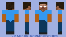 Fake Herobrine Skin Minecraft Skin