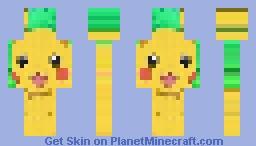 Pikachu variant 3 Minecraft Skin