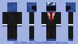 Cookie Monster Minecraft Skin