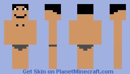 Naked man Minecraft Skin