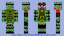 Canadian Army Soldier Minecraft Skin