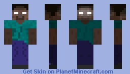 Two-Sided Herobrine Minecraft Skin