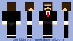 Buisnessman with a black suit Minecraft Skin