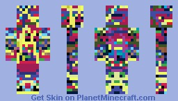 The Coloured guy Minecraft Skin