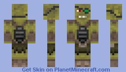 Fallout Supermutant Minecraft Skin