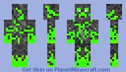 Acid Creeper Minecraft Skin