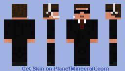 Men in black Minecraft Skin