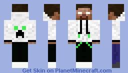 herobrine hoodie Minecraft Skin