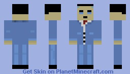 Gman from Half Life Minecraft Skin