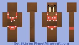 Bikini Walrus Minecraft Skin