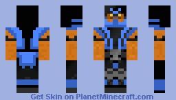 Sub Zero Pumpkin Minecraft Skin