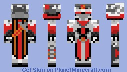 Fiery Red Knight Minecraft Skin