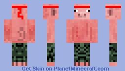 Rambo Pig Minecraft Skin