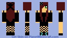 goth girl Minecraft Skin