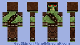 Leather Amoured Orc #2  By Alpha_Poster Minecraft Skin
