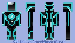 Tron Suit Minecraft Skin