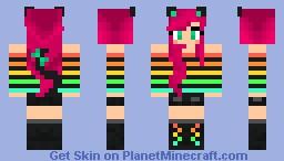 The cat girl Minecraft Skin