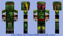 Boba Fett HD from Star Wars Minecraft Skin