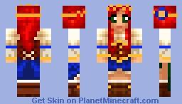 blue Celtic princess Minecraft Skin