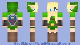 Link as A Girl -Long Hair- Minecraft Skin