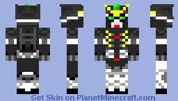 Gundam deathscythe (from gundam wing) Minecraft Skin