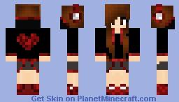 Heart Hoodie Girl (Based off of me) Minecraft Skin