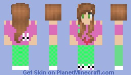 Lazy brunette (not the best) Minecraft Skin