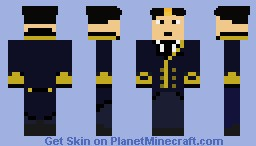 Titanic - 1997 Film - Lieutenant William Murdoch Minecraft Skin
