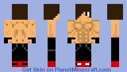 Strong Muscle Man Minecraft Skin