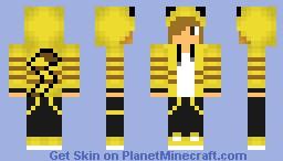 Teen dressed in Pikachu Hoodie Minecraft Skin