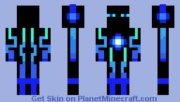 blue tron Minecraft Skin