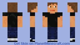 Black t-shirt MEN Minecraft Skin