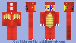 rainbow in a dragon suit? Minecraft