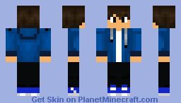 blue hoodie Minecraft Skin