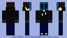 Eye-Less Jack Hoodless CreepyPasta Minecraft Skin