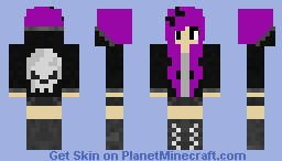 purple hair girl Minecraft Skin