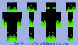 Green Ghost Enderman Minecraft Skin