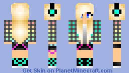 DJ Girl Minecraft Skin
