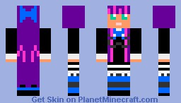Stocking from panty and stocking Minecraft Skin