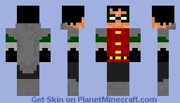 Damian Wayne Robin Minecraft Skin