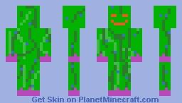 Grass monster by darkmazeblox. Minecraft Skin