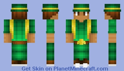 St Patricks Day - Male - Green & Yellow Outfit Minecraft Skin