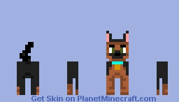 German Shepherd  Dog Minecraft Skin