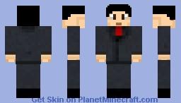 Lee from rush hour (based on KrystyCraft's Slenderman) Minecraft Skin