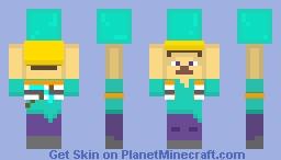 Miner Steve and Diamond Minecraft Skin