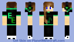 -Emerald's Edge Series-  Emerald DJ Girl Minecraft Skin
