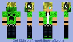 Cool creeper lover Minecraft Skin