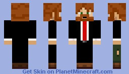 Suit and Beard Minecraft Skin